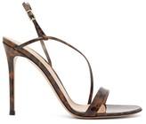 Gianvito Rossi Venice 85 Leopard-print Patent-leather Sandals - Womens - Leopard