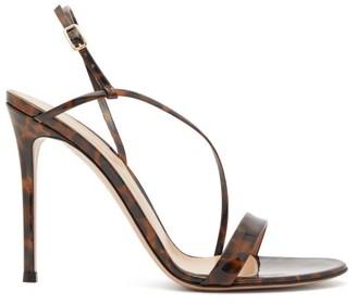 Gianvito Rossi Venice 85 Leopard-print Patent-leather Sandals - Leopard