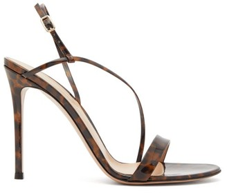 Gianvito Rossi Venice 85 Leopard-print Patent-leather Sandals - Womens - Leopard