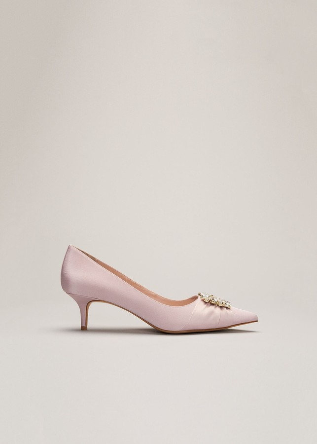 Phase Eight Dasha Grosgrain Jewelled Kitten Heel