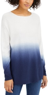 INC International Concepts Inc Dip-Dyed Shirttail Tunic, Created for Macy's