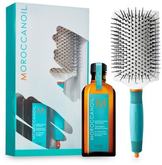 Moroccanoil Great Day Ceramic Paddle Brush & Treatment Hair Set