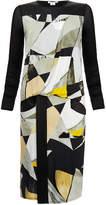 Helmut Lang Cubist Print Wrap Dress