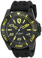 Ferrari Men's 'XX Kers' Quartz Stainless Steel and Silicone Casual Watch, Color:Black (Model: 0830307)