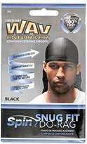 Wav Enforcer Snug Fit Bold Black Do Rag