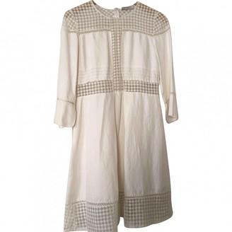 Sandro Beige Cotton - elasthane Dress for Women