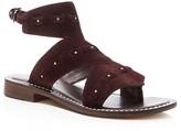 Bernardo Suede Teddi Cutout Ankle Strap Sandals