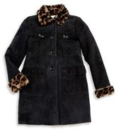 Gucci Little Girl's & Girl's Leather Button-Down Coat