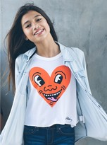 Junk Food Clothing Kids Girls Keith Haring Heart Tank-sugar-xs
