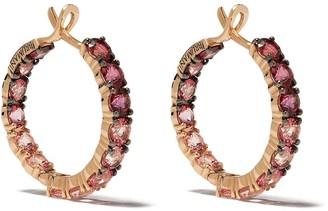 Brumani 18kt Rose Gold Topaz Hoop Earrings