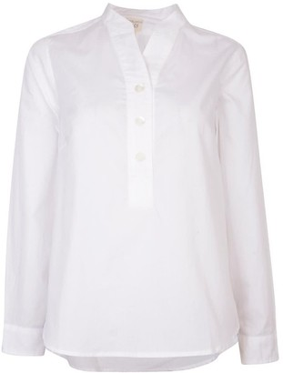Nologo Chic Cotton Poplin Stripe Gigi Blouse - White