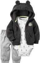Carter's 3 Piece Cardigan Set (Baby) - Grey - Newborn