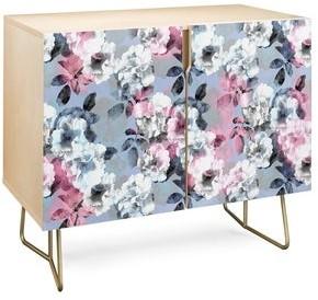 Deny Designs Vintage Floral Theme Credenza