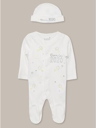 M&Co Born in 2020 sleepsuit (0-9mths)