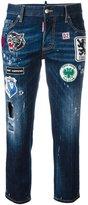 DSQUARED2 Patches Boyfriend jeans - women - Cotton/Spandex/Elastane - 40