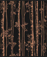 Graham & Brown Linden Black Copper Wallpaper