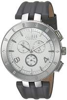 Versus By Versace Men's 'LOGO GENT CHRONO' Quartz Stainless Steel and Leather Casual Watch, Color:Grey (Model: S76070017)