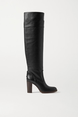 Chloé Emma Leather Over-the-knee Boots - Black