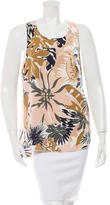 Rag & Bone Silk Floral Print Top
