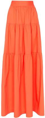 STAUD tiered maxi-skirt
