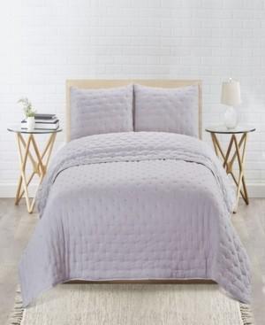 Tadpoles Sleeping Partners Embroidered Dot Microfiber Soft Wash 3 Piece Quilt Set