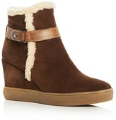 Aquatalia Chiara Suede Wedge Booties