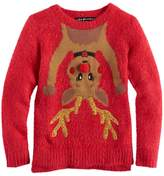 It's Our Time Girls 7-16 & Plus Size Fuzzy Ugly Christmas Sweater