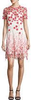 Elie Tahari Floral Embroidered Shift Dress