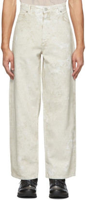 Our Legacy White Wax Vast Cut Jeans