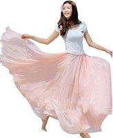 Bestal Xinliya Chiffon Pleated Midi Skirt Beach Long Dress Maxi Skirt Cocktail Dresses