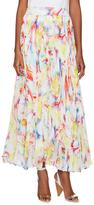 Alice + Olivia Printed Pleated Maxi Skirt
