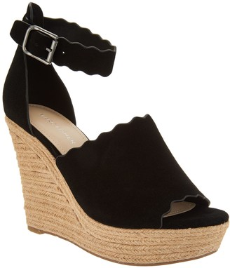 Marc Fisher Suede Ankle Strap Espadrille Wedge - Haya