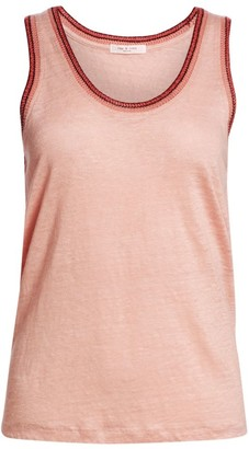 Rag & Bone Molly Linen Jersey Tank Top