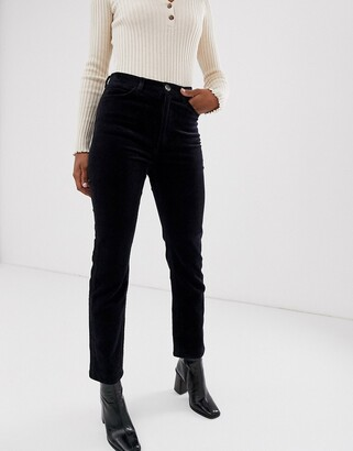 And other stories & cord straight leg pants in navy