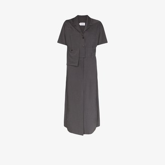Eftychia Collared Belted Shirt Dress