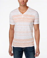 INC International Concepts Men's Striped Y-Neck T-Shirt, Created for Macy's