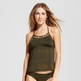 Mossimo Women's Halter Cut-Out Tankini Top