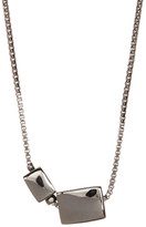 French Connection Asymmetrical Rectangle Pendant Necklace