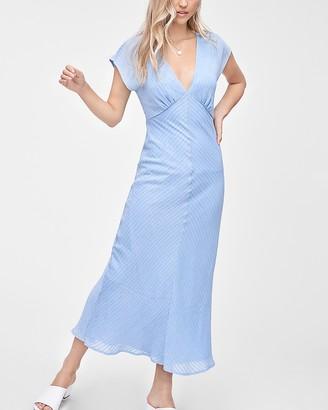 Express Emory Park Striped V-Neck Maxi Dress