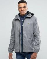 Lyle & Scott Showerproof Raincoat In Gray Marl