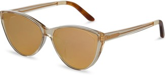 Josie Champagne Crystal | Rose Mirrored Lens