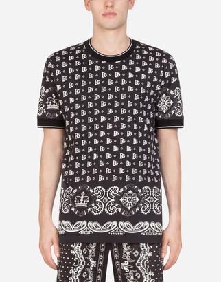 Dolce & Gabbana Cotton T-Shirt In Bandana Print