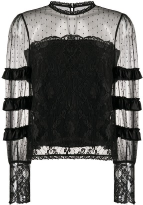 Temperley London Tiered Lace Blouse