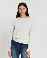 Banana Republic Puff-Sleeve Sweater Top