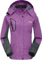 Wantdo Women's Breathable Athletic Outdoor Windbreaker Waterproof Windproof Rain Jacket