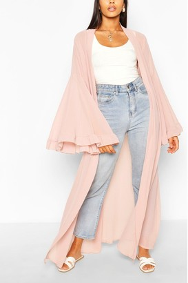 boohoo Wide Sleeve Maxi Kimono