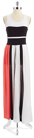 French Connection Medina Striped Maxi Dress