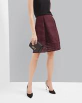 Ted Baker Sheer panel midi skirt