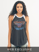 Junk Food Clothing Wonder Woman Raglan Tank-jb/ew-xs