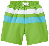I Play Trunks with Built in Swim Diaper (Baby) - Lime/Aqua - 6 Months